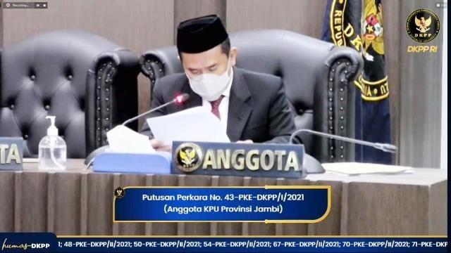 Pimpinan DKPP RI Berbeda Pendapat Terkait Putusan Kasus Komisioner KPU Provinsi Jambi