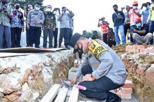 Kapolda Jambi Hadiri Peletakan Batu Pertama Polres Batanghari