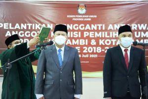 Suparmin Dilantik, KPU Provinsi Jambi Rombak Komposisi Divisi