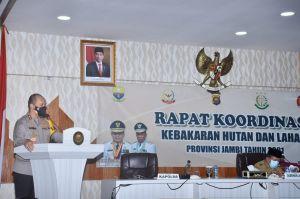 Kapolda Jambi Paparkan Langkah-Langkah Pencegahan Karhutla ke Gubernur