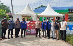 PC PMII dan PC IPNU Gandeng Polres Tanjabbar Gelar Vaksinasi