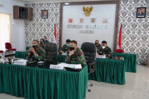 Danrem 042/Gapu Ikuti Rapat Penerapan PPKM Level IV di Kota Jambi Secara Virtual