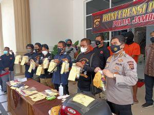 Ditresnarkoba Polda Jambi Amankan 9 Kg Sabu, Rencana Dijual ke Palembang