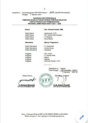 BREAKING NEWS: Walikota Sungaipenuh Ahmadi Zubir Resmi Jadi Kader PPP