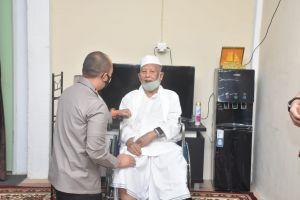 Kapolda Jambi Tinjau Vaksinasi di Ponpes As'ad Olak Kemang