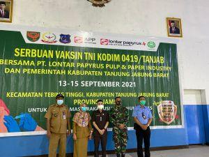 Saling Bahu-Membahu TNI, Pemkab dan PT LPPPI Lakukan Serbuan Vaksinasi di Tebing Tinggi