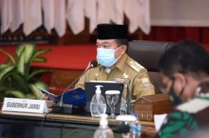 Gubernur Jambi Paparkan Soal Penanganan Covid-19 ke Kapolri dan Panglima TNI