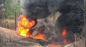 Hari ke-20, Lahan Akibat Ledakan Sumur Minyak Ilegal di Batanghari Masih Terbakar