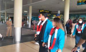 16 Atlet PON Papua XX Tiba di Bandara, Langsung Diisolasi ke LPMP Jambi