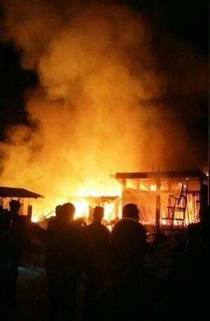 Dua Hari Dua Kejadian Kebakaran di Tanjab Barat, Hanguskan Rumah Warga