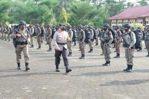 Kapolda Jambi Berangkatkan Ratusan Brimob ke Sulteng