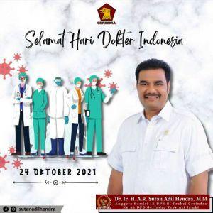 HUT ke-71 IDI, SAH Apresiasi Peran Dokter Sebagai Pejuang Kemanusiaan dan Kebangsaan.